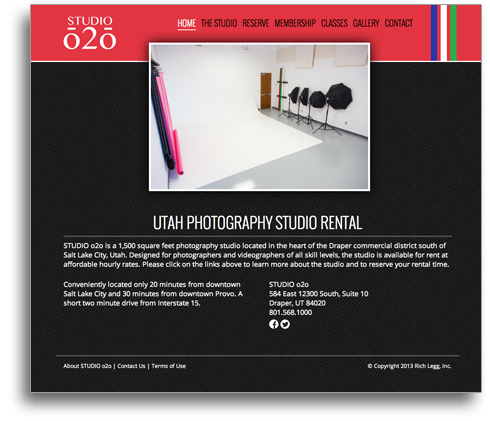 STUDIO o2o Website